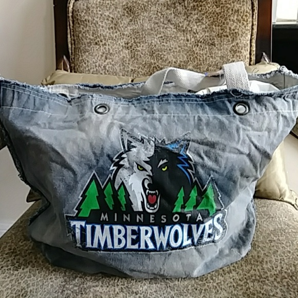 Prō Fan Ity Bags Ladies Nba Minnesota Timberwolves Vintage Tote